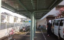 流山市T駐輪場外壁塗装施工例 詳細
