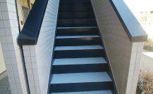 市川市 K様Kコーポ階段改装工事外壁塗装施工例 詳細