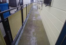 松戸市 Sコーポ廊下.階段防滑シート工事