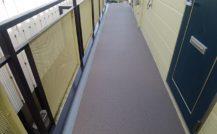 松戸市 Sコーポ廊下.階段防滑シート工事外壁塗装施工例 詳細
